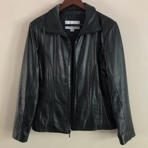WILSONS LEATHER Maxima Black Leather Coat - L